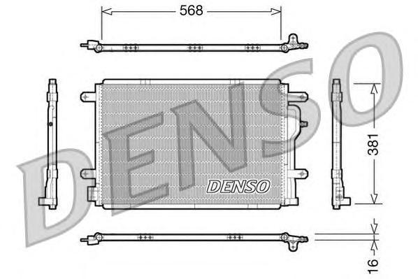 DCN02004 DENSO Конденсатор, кондиционер