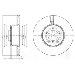 BG4172C DELPHI Тормозной диск