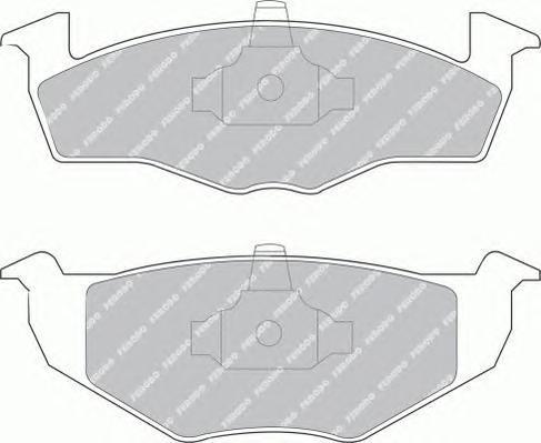 FSL1054 FERODO Комплект тормозных колодок, дисковый тормоз