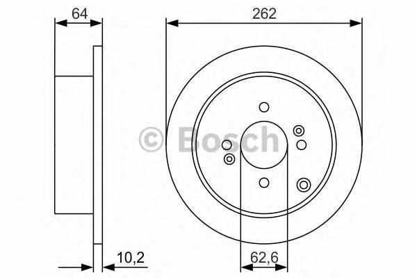 Тормозной диск BOSCH 0986479983