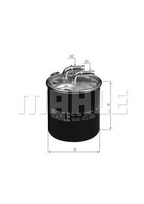 Топливный фильтр MAHLE KL723D