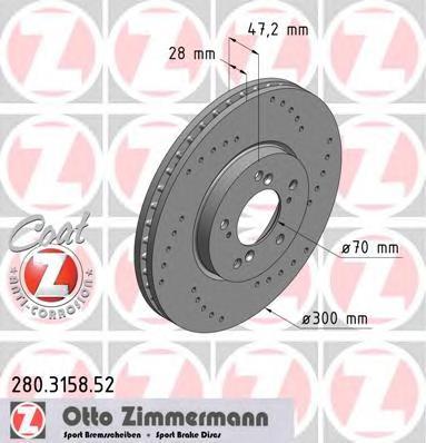 Тормозной диск ZIMMERMANN 280315852