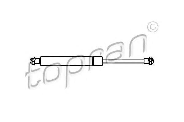 501286 TOPRAN Упругий элемент, капот