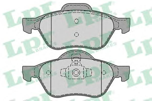 05P1279 LPR Комплект тормозных колодок, дисковый тормоз