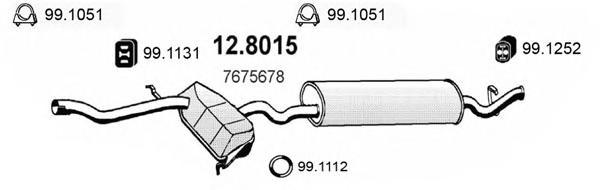 128015 ASSO Средний / конечный глушитель ОГ