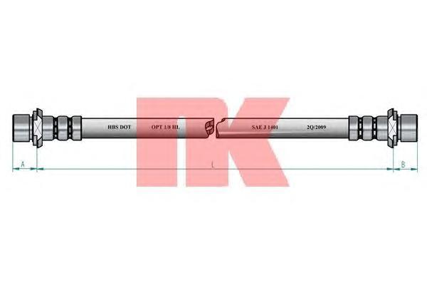 8545117 NK Тормозной шланг