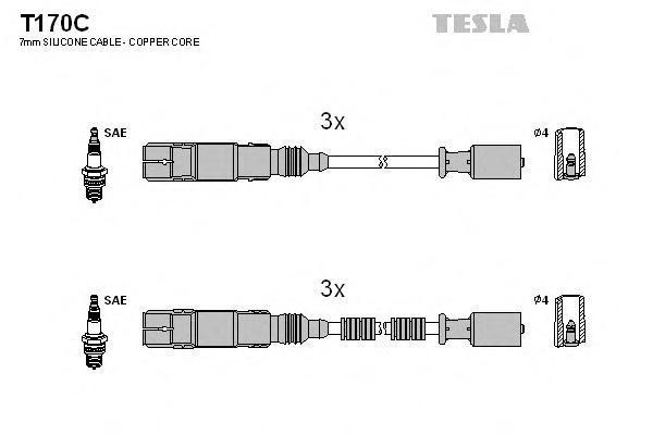 Комплект проводов зажигания TESLA T170C