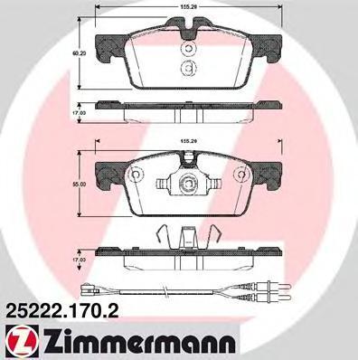 252221702 ZIMMERMANN Комплект тормозных колодок