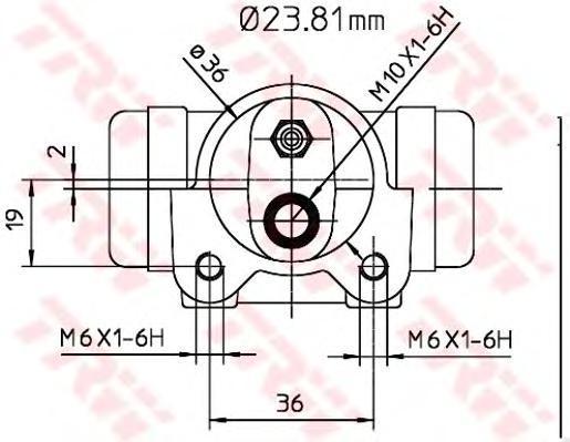 BWK224 TRW Колесный тормозной цилиндр