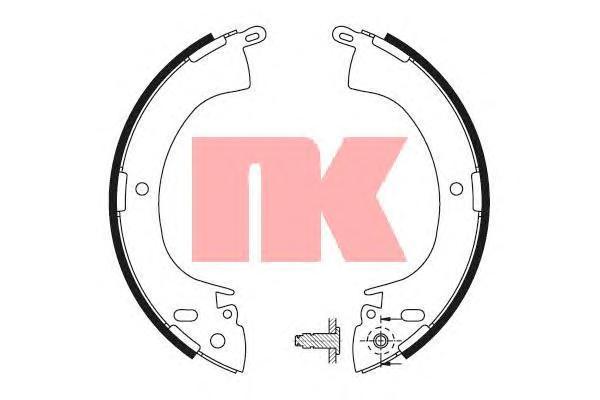 2730420 NK Комплект тормозных колодок
