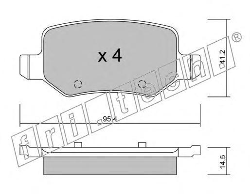 Комплект тормозных колодок, дисковый тормоз FRI.TECH. 5810