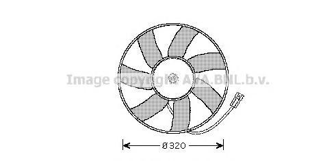 Вентилятор, конденсатор кондиционера AVA OL7522