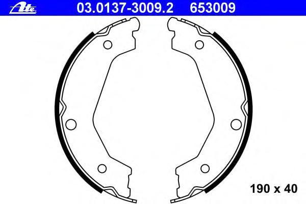 03013730092 ATE Комплект тормозных колодок, стояночная тормозная система