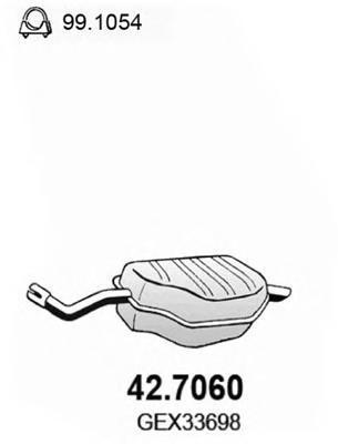 Глушитель выхлопных газов конечный ASSO 427060