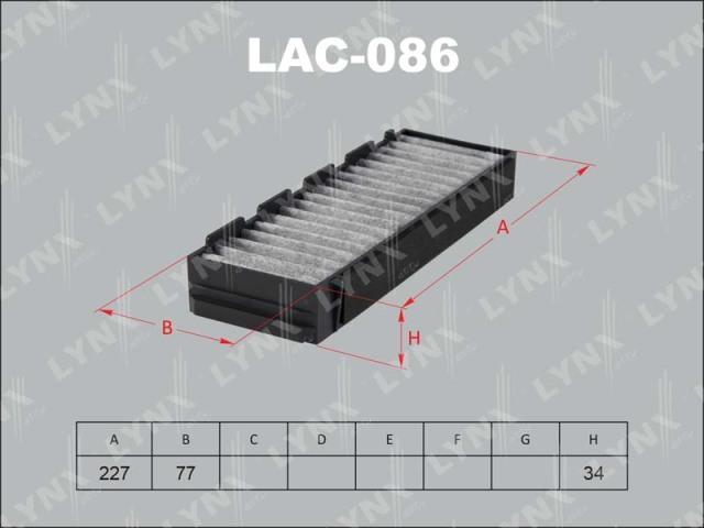 LAC086 LYNX Фильтр салонный