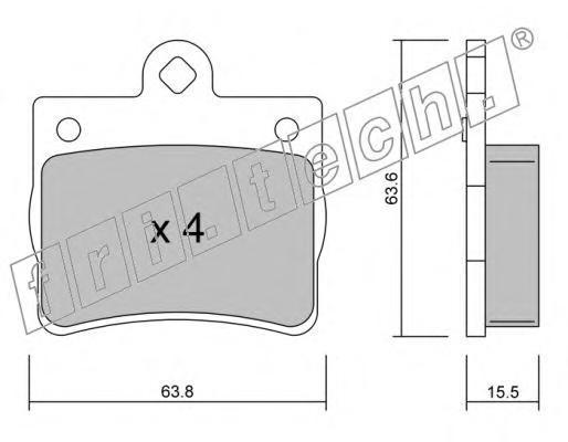 Комплект тормозных колодок, дисковый тормоз FRI.TECH. 2640