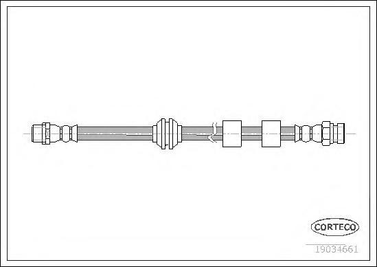 19034661 CORTECO Тормозной шланг