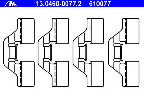 13046000772 ATE Комплектующие, колодки дискового тормоза