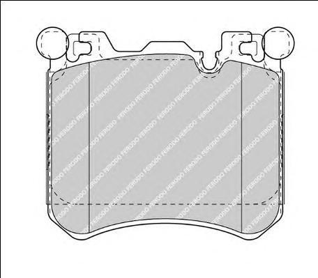 FDB4351 FERODO Комплект тормозных колодок, дисковый тормоз