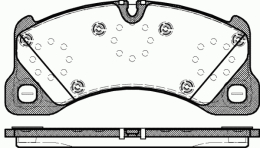 Комплект тормозных колодок, дисковый тормоз PORSCHE 95535193962