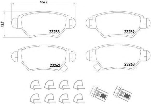 Колодки тормозные дисковые, комплект TEXTAR 2325803
