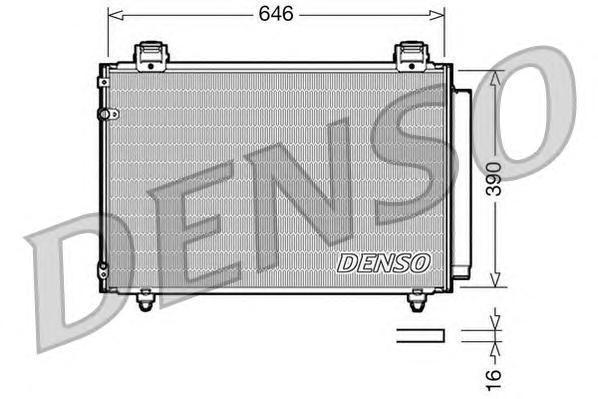 DCN50024 DENSO Радиатор кондиционера