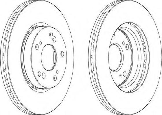 Тормозной диск FERODO DDF1539