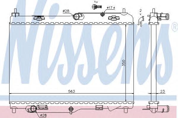 69233 NISSENS Радиатор, охлаждение двигателя