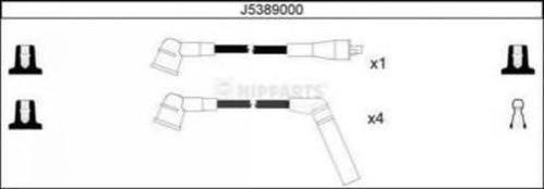 J5389000 NIPPARTS Комплект проводов зажигания