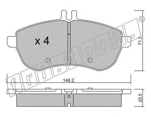 Комплект тормозных колодок, дисковый тормоз FRI.TECH. 6810