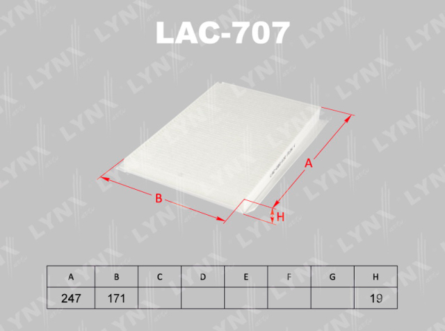 LAC707 LYNX Фильтр
