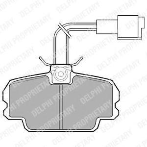 LP592 DELPHI Комплект тормозных колодок, дисковый тормоз