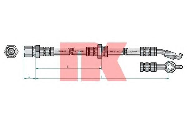 855022 NK Шланг тормозной