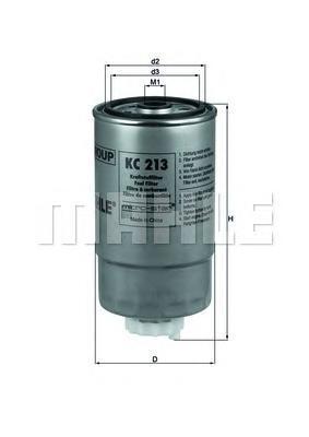KC213 MAHLE Топливный фильтр