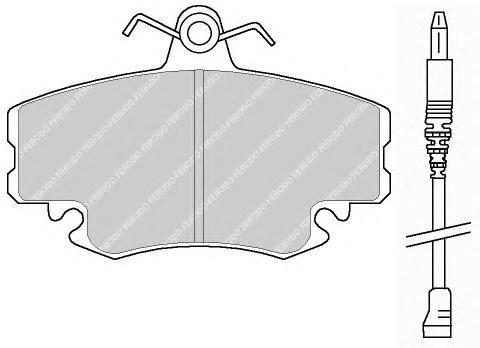 Комплект тормозных колодок, дисковый тормоз FERODO FDB845