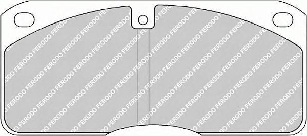 FCV702 FERODO Комплект тормозных колодок, дисковый тормоз