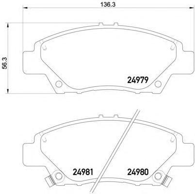 2497901 TEXTAR Комплект тормозных колодок, дисковый тормоз