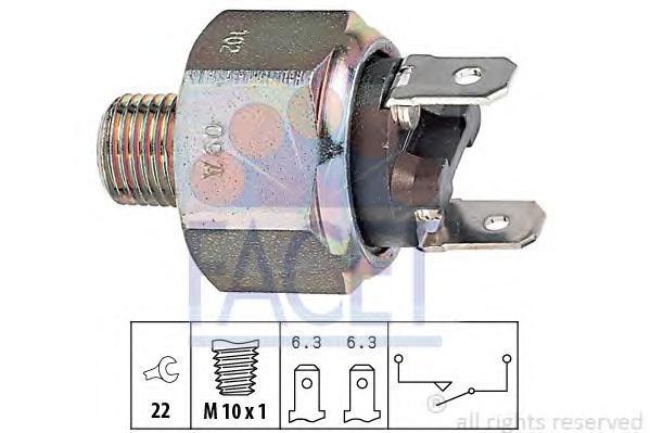 71102 FACET Выключатель фонаря сигнала торможения