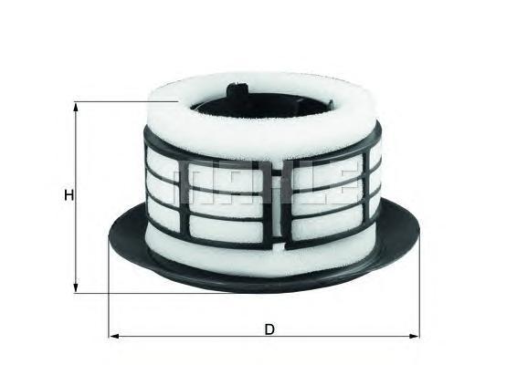 LX292 MAHLE/KNECHT Воздушный фильтр