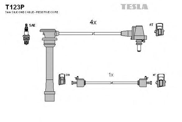 Комплект проводов зажигания TESLA T123P