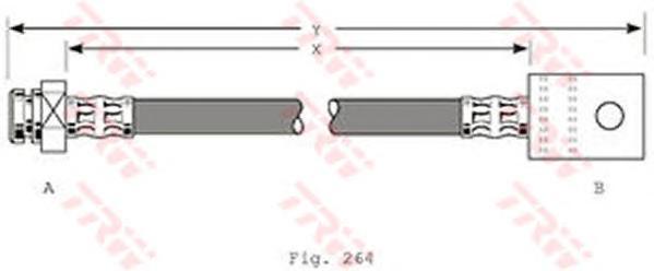 PHA363 TRW/LUCAS Тормозной шланг