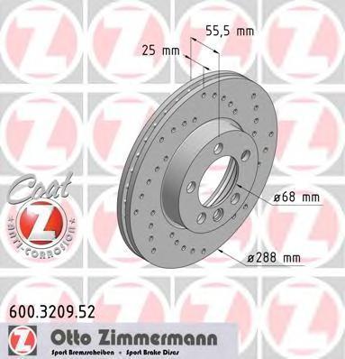 600320952 ZIMMERMANN Тормозной диск