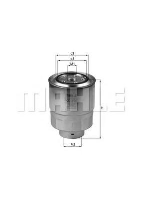 KC256D MAHLE/KNECHT Топливный фильтр