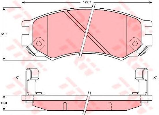 GDB1175 TRW/LUCAS Комплект тормозных колодок, дисковый тормоз