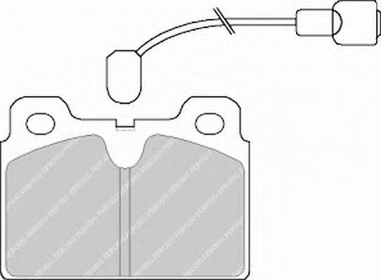 FDB268 FERODO Комплект тормозных колодок, дисковый тормоз
