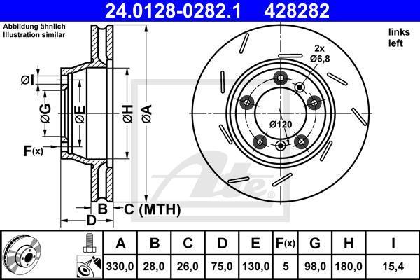 24012802821 ATE Тормозной диск