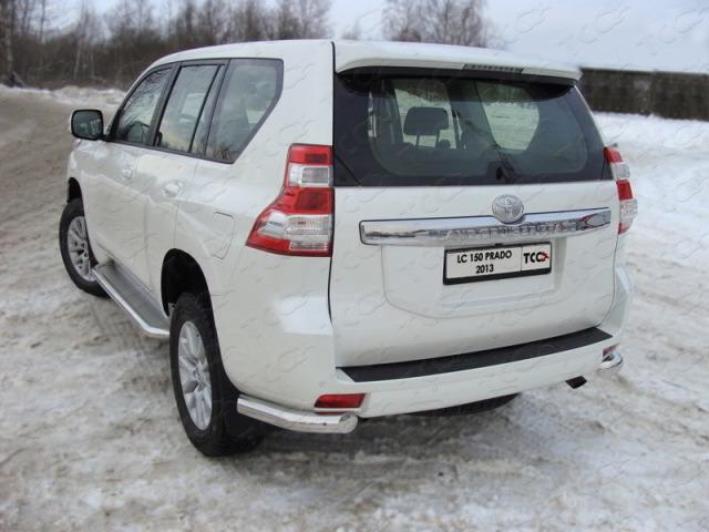 Защита задняя (уголки) 76,1 для Toyota Land Cruiser 150 Prado (2013-2016) ТСС TOYLC1501306