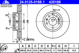 24012501881 ATE Тормозной диск