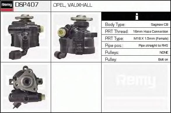 Гидравлический насос, рулевое управление DELCO REMY DSP407