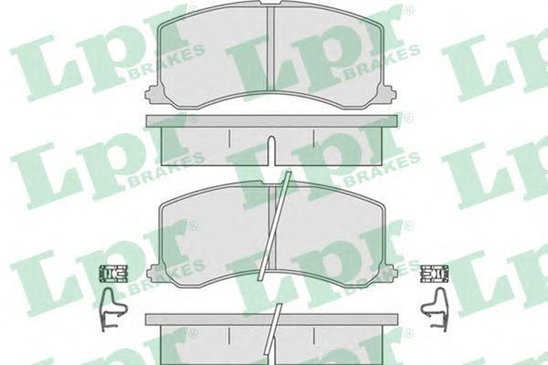 05P665 LPR/AP Комплект тормозных колодок, дисковый тормоз